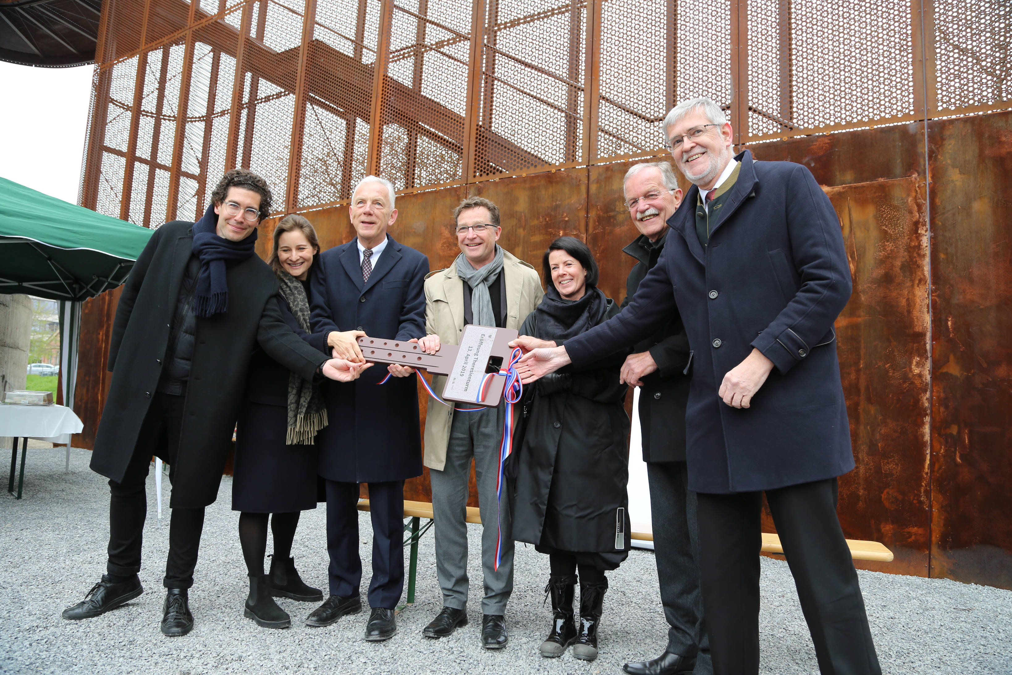 Einweihung Zugang Theresienturm